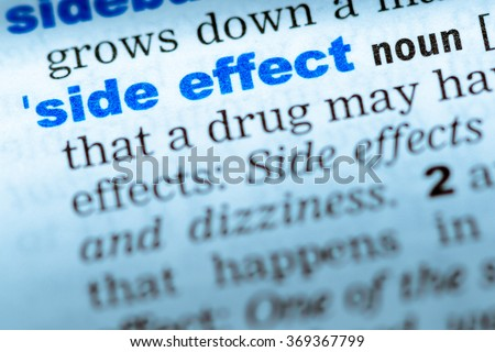 Close Up Of Word In English Dictionary. Side Effect, Definition And  Transcription