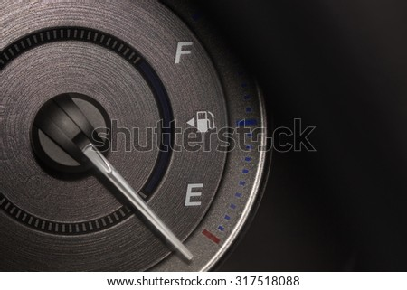 close-up oil panel Car dark and light style - stock photo