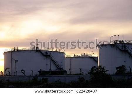 Close up Oil refinery,Petroleum industry, sunset background.