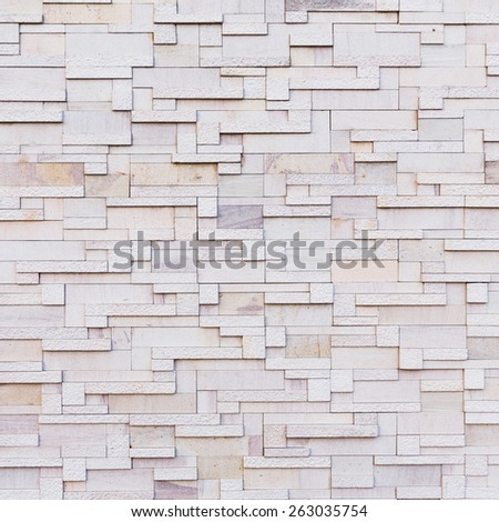 Close up old and dirty stone wall tiles texture - stock photo
