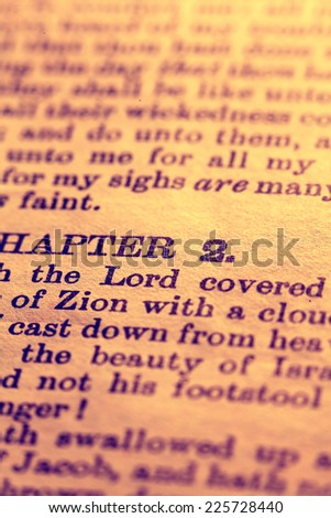 Close up Old Holy Bible - stock photo