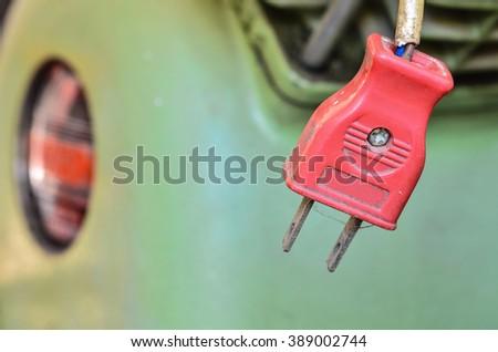 Close up Old Plug - stock photo