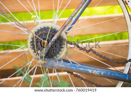 Close Old Rusty Abandoned Bike Broken Stock Photo (Edit Now ...