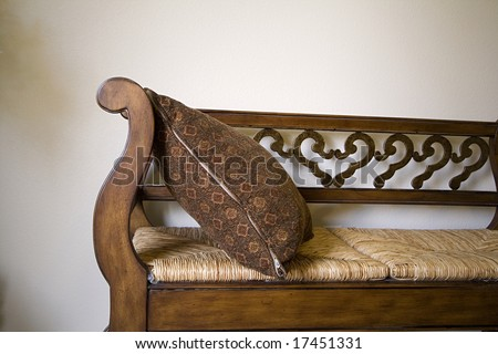 Close up on a Bench in a Trendy Modern Living Room