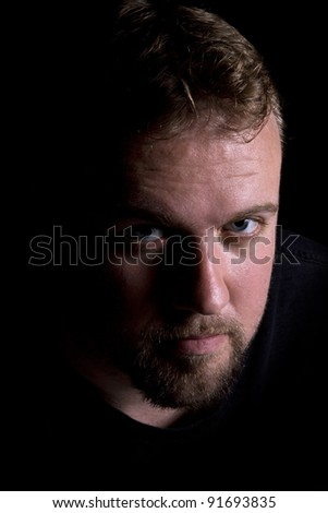 Close up on a Man's Face - Isolated Background - stock photo