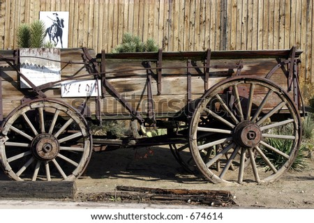 Close up on an Old Antique Wagon