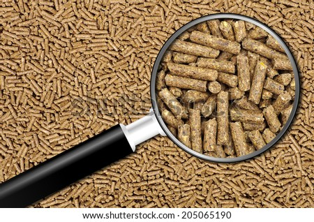 Close-up on animal food - stock photo