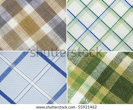 Close up on different design cloth pattern - stock photo