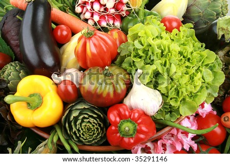 close up on group of vegetable