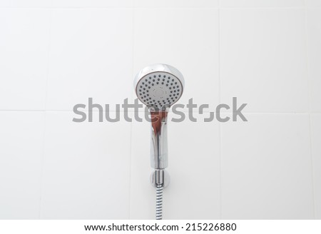 close up on head shower - stock photo