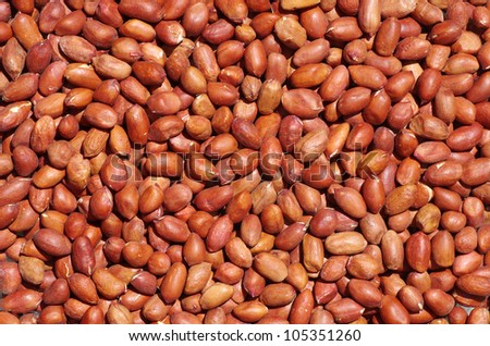 Close-up on peanuts background - stock photo