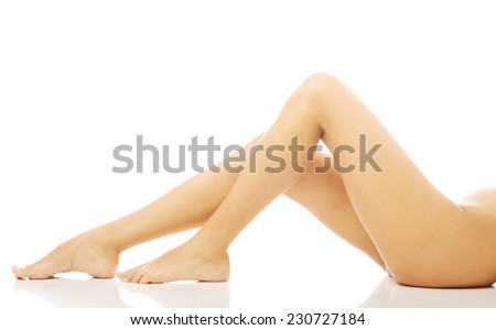 Close up on perfect female legs.