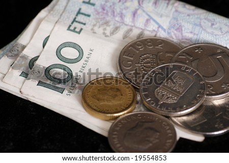 Close up on Swedish currency. Krona - stock photo