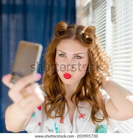 Funny Girl Selfie Shark Picture