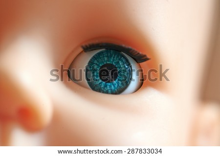 Close-up on the Eye of a Children's Toy