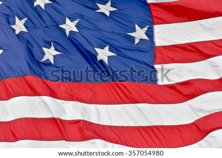 Close-up on the USA flag