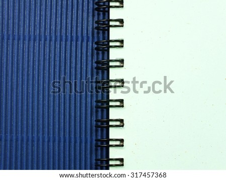 close up opening note paper on wood texture background with copy space