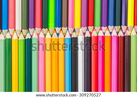 Close up pattern colour pencils texture and background