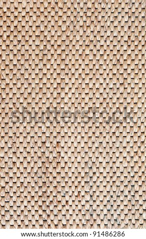 close up pattern of brown wood mat