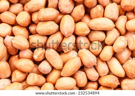 Close up Peanuts for background - stock photo