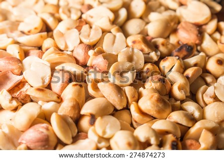 close-up peanuts texture background