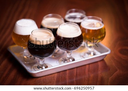Stout stock images royalty free images vectors for Craft brew beer tasting glasses
