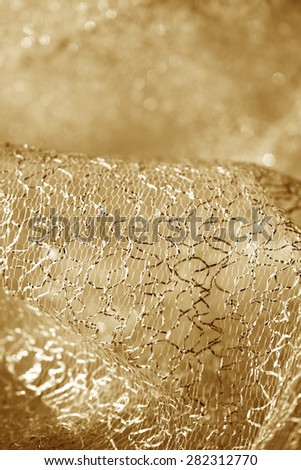 Close up photo of a beautiful lace material - stock photo