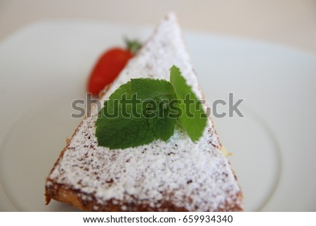 Close-up photo of a piece of sponge cake. Muffin.Dessert