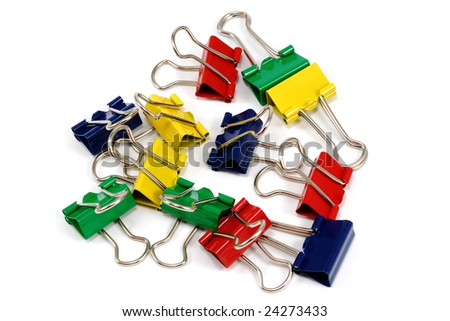 close-up photo of binder-clips