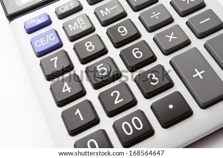 Close up photo of business digital calculator