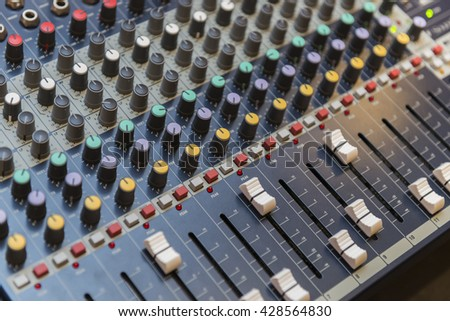 Close Up Photo of Multi Channel Sound Mixer