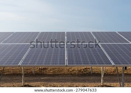 Close up photo of photovoltaic modules