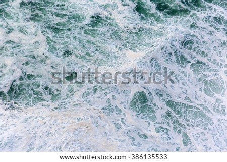 Close up photo of splashing ocean waves