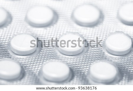 Close-up photo of the medical drugs in pack