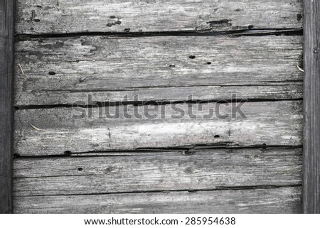 Close-up photo shot of old wooden boards - stock photo