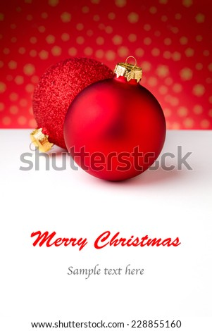 Close up photograph of some christmas decorations