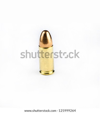 close up picture of a bullet - stock photo