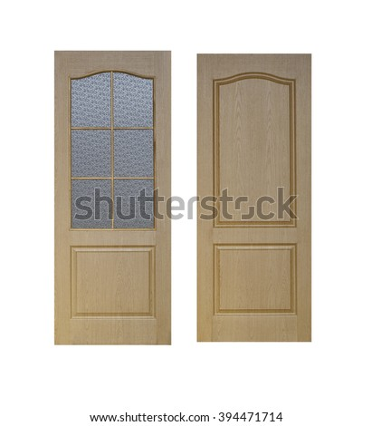 close-up picture of interior doors - stock photo