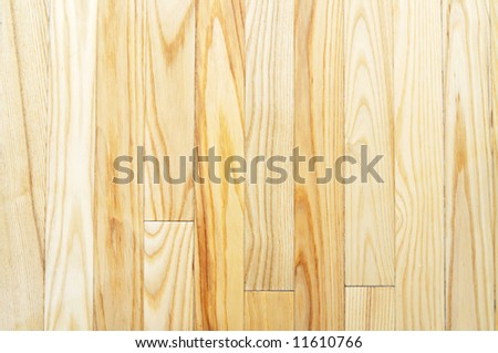 Close-up picture of light-colored hardwood floor (background, texture) - stock photo