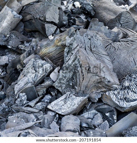 Close up pile of charcoal background - stock photo