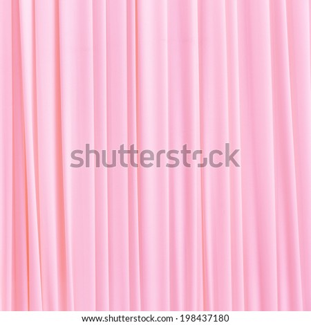 Close up pink color curtain texture background - stock photo