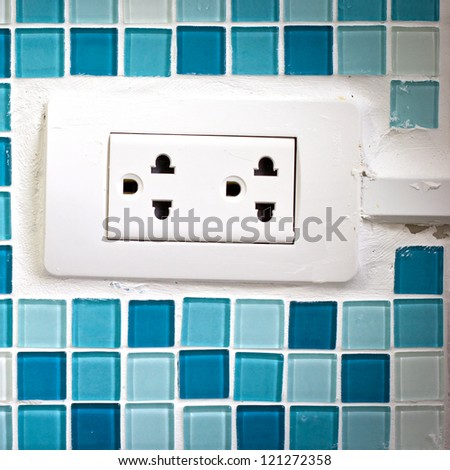 Close up plug in - stock photo