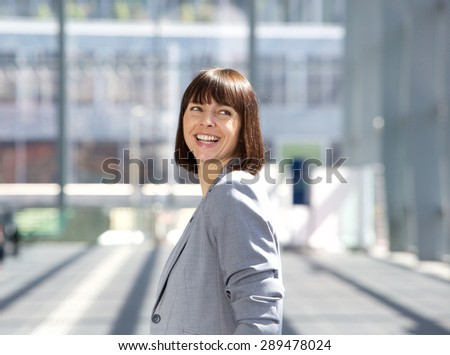 Close up portrait of a happy professional business woman  - stock photo