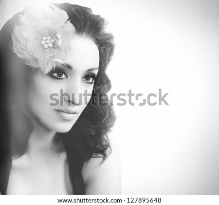 close up portrait of a pretty girl with accessories