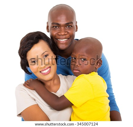 close up portrait of beautiful afro american family