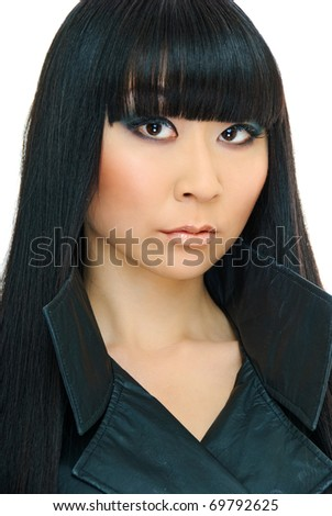 close up portrait of beauty charm korean girl