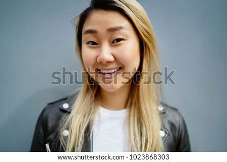Chinese girl blonde hair