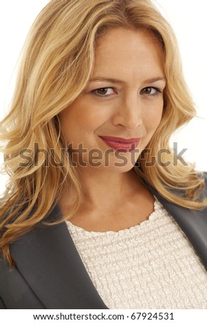 Close-up portrait of young businesswoman