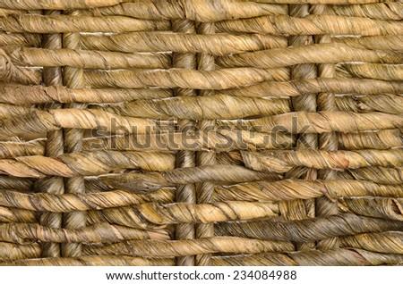 close up ratan basket background - stock photo