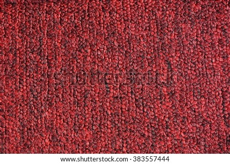 close up red carpet texture for background used - stock photo